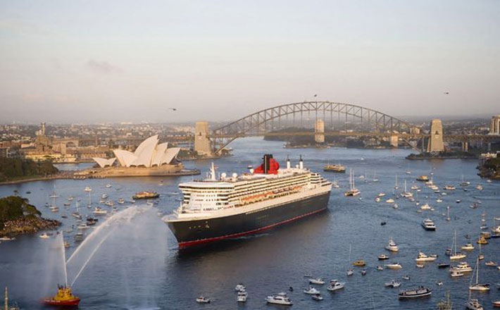 The Queens (MARY and ELIZABETH) Meet Again on Sydney Harbour