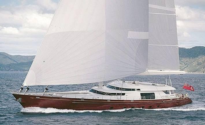 Georgia – one of the world's largest yachts enjoying Sydney Harbour
