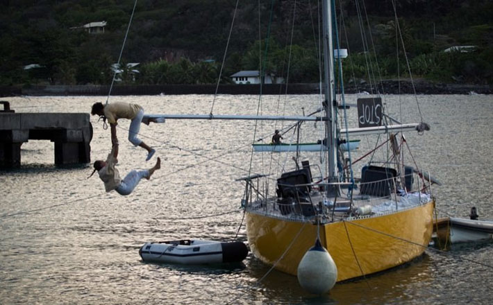 Acrobatics on yachts comes to Sydney Harbour