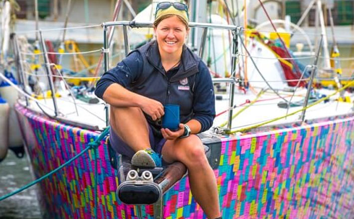 Lisa Blair first female to circumnavigate Antarctica in a sailing yacht