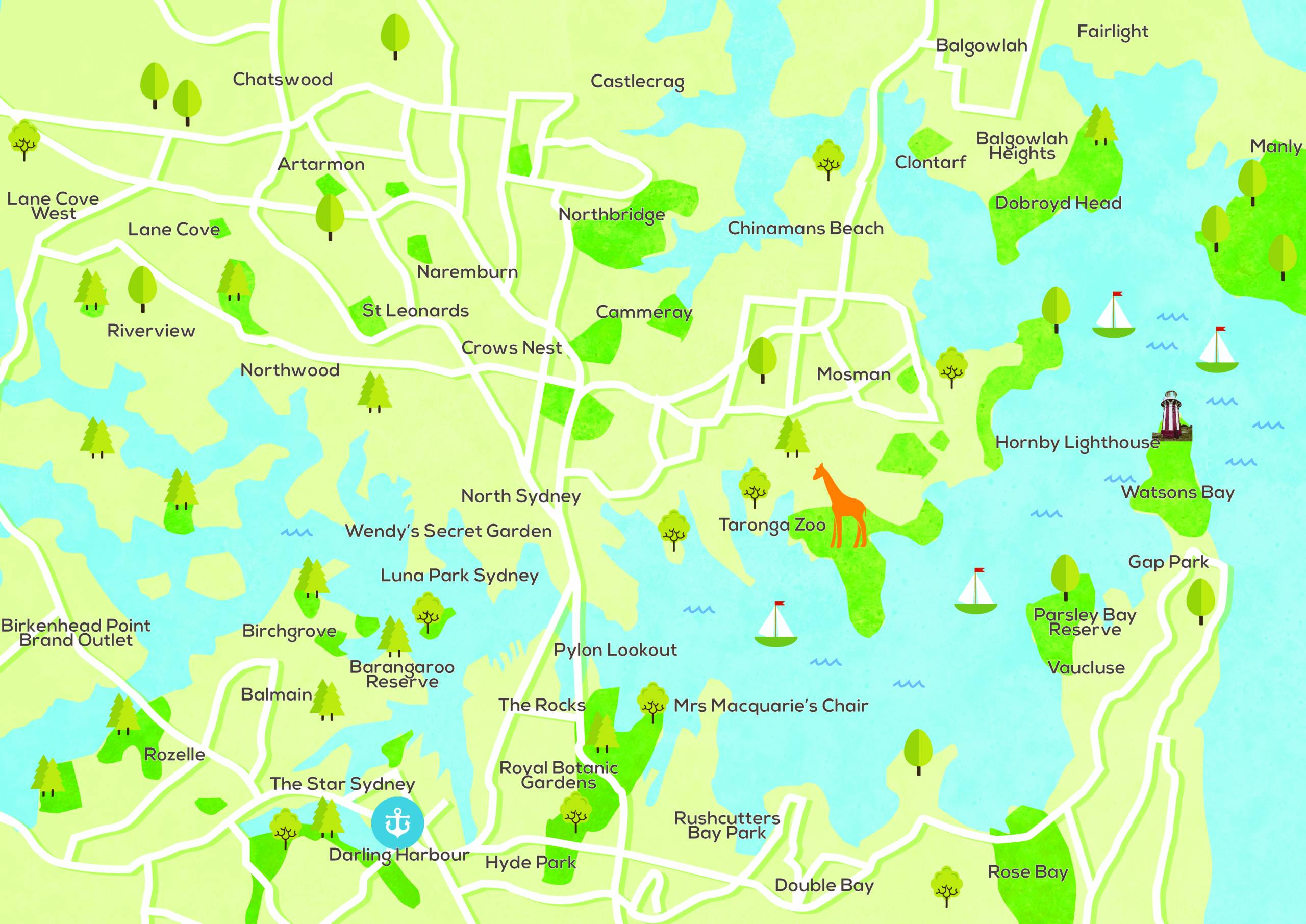 Sydney Harbour Waterways Infographic