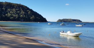 Boat hire Pittwater Great Mackerel Beach