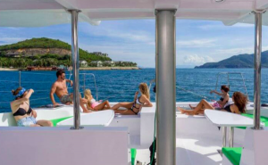 boat hire selection: catamaran